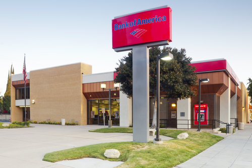 A Bank of America Branch Bank Located in Burbank, California