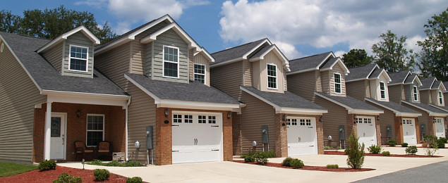 A Group of Townhomes