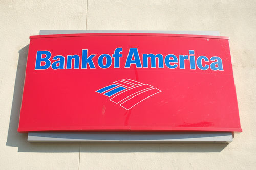Bank of America Red Sign
