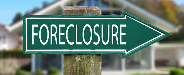 A Foreclosure Direction Sign