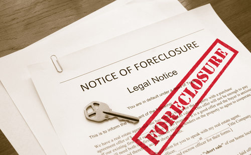 Foreclosure Notice and Key