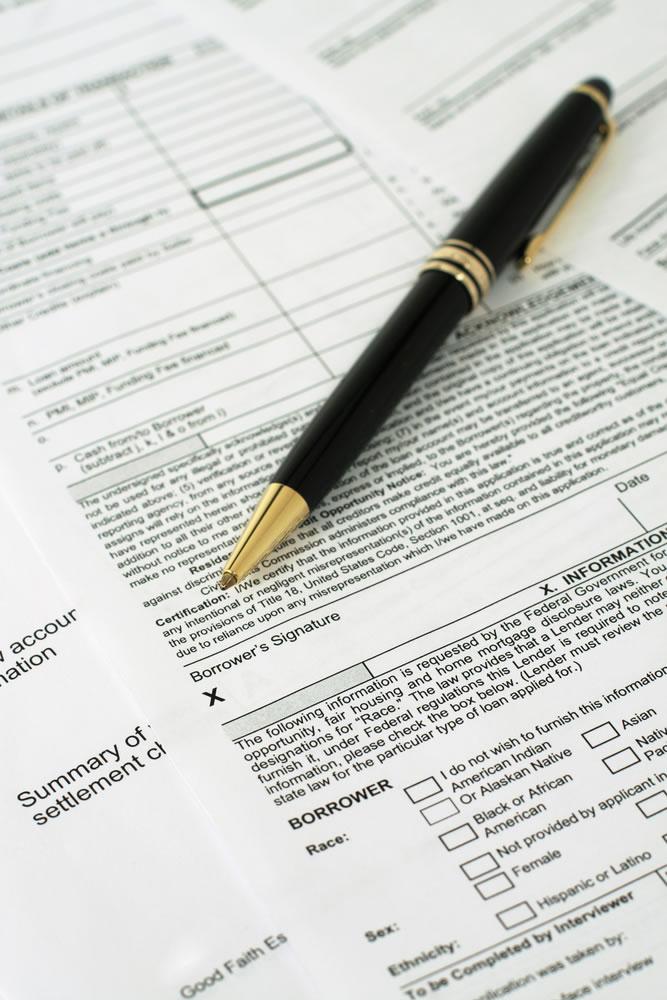 Lending documentation to sign