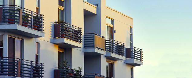 Modern Apartment Bancony at Sunset