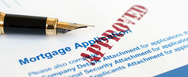 Mortgage Application Form with Approved Stamp and Pen