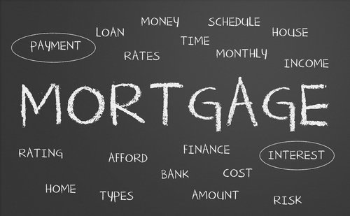 Mortgage Word Cloud Written on a Chalkboard