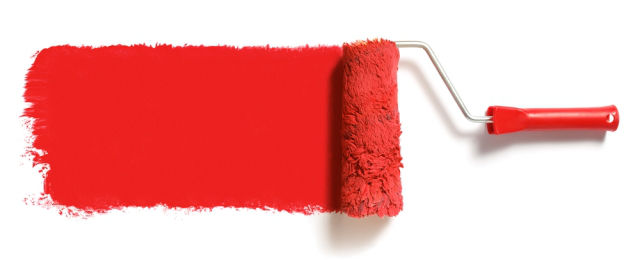 Roller Brush with Paint